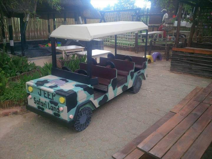 creative pallet safari jeep