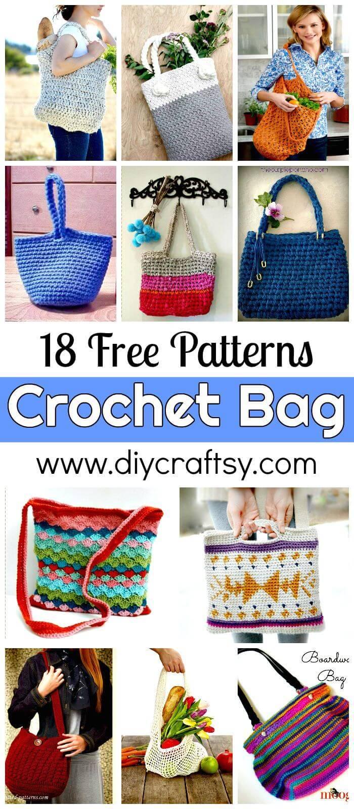 18 Free Crochet Bag Patterns - Crochet Tote Bags