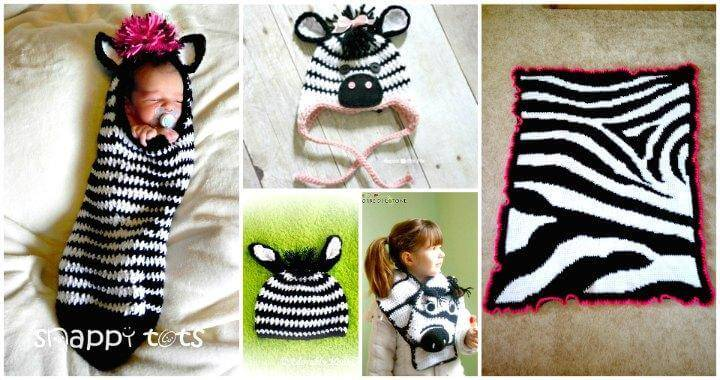 4882f3524 26 Free Crochet Zebra Patterns / Hat, Blanket, Amigurumi - DIY & Crafts