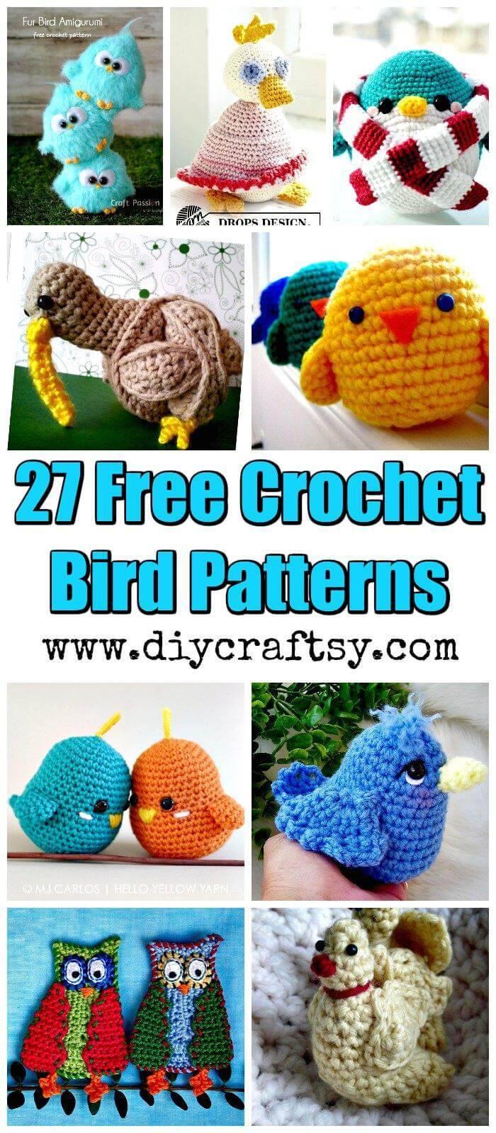 27 Free Crochet Bird Patterns You'll Love