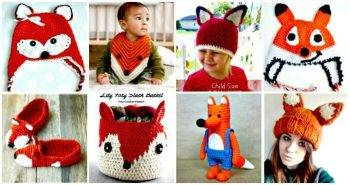 50 Free Crochet Fox Patterns - Crochet Fox Hat - Crochet Blanket, Crochet Basket, Crochet Scarf, Crochet Booties and Much more you want from free crochet patterns.