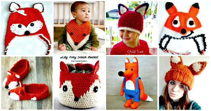 50 Free Crochet Fox Patterns – Crochet Fox Hat