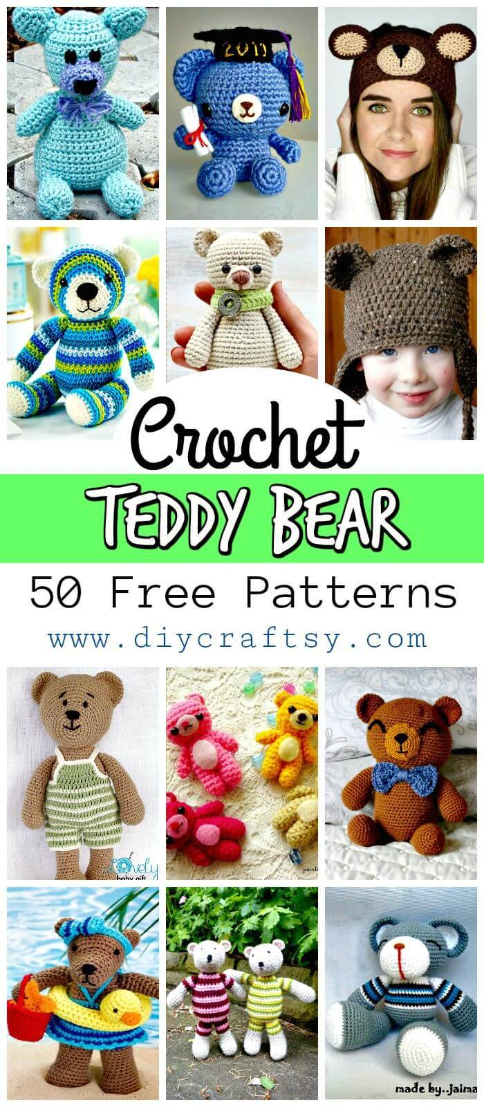 50 Free Crochet Teddy Bear Patterns