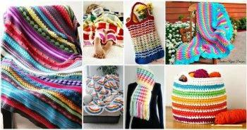 Free Crochet Rainbow Patterns - Rainbow Blanket