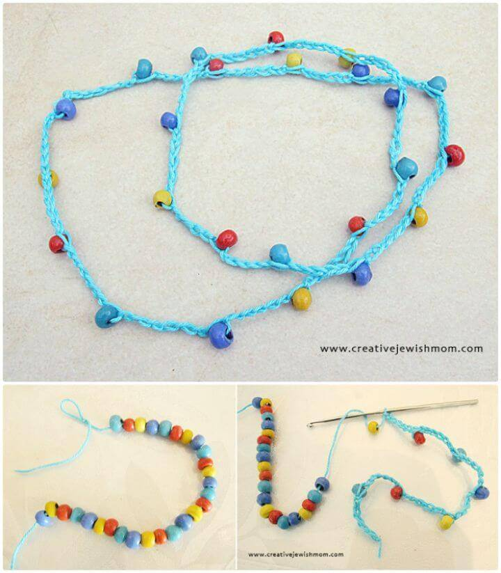 A Super Simple Crocheted Necklace That Even Kids Can Make - Free Pattern