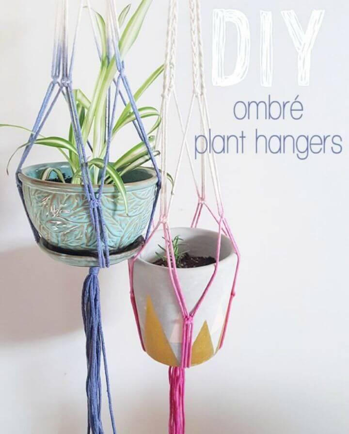 DIY Ombre Macrame Plant Hangers!
