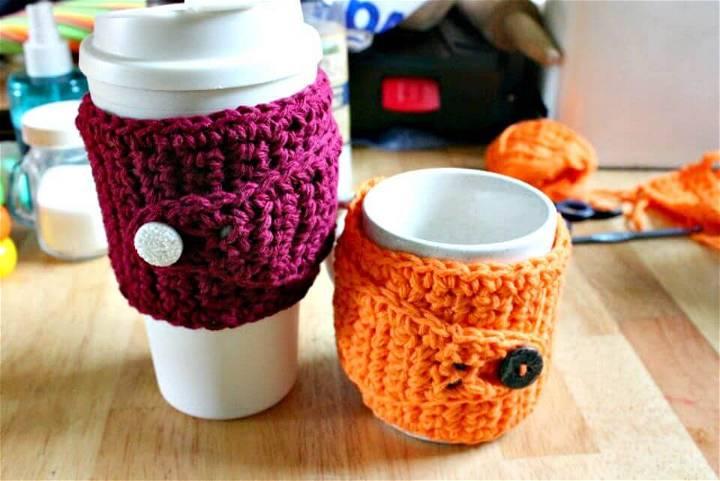 Awesome Free Crochet Coffee Mug Cozy Pattern