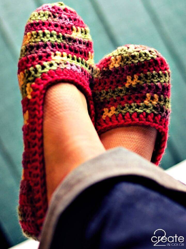 Crochet Slippers Pattern- 62 Free Crochet Patterns - DIY & Crafts