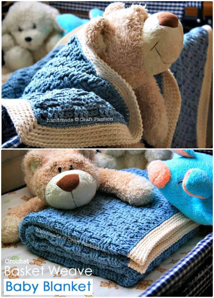 Free Crochet Basket Weave Pattern – Baby Blanket