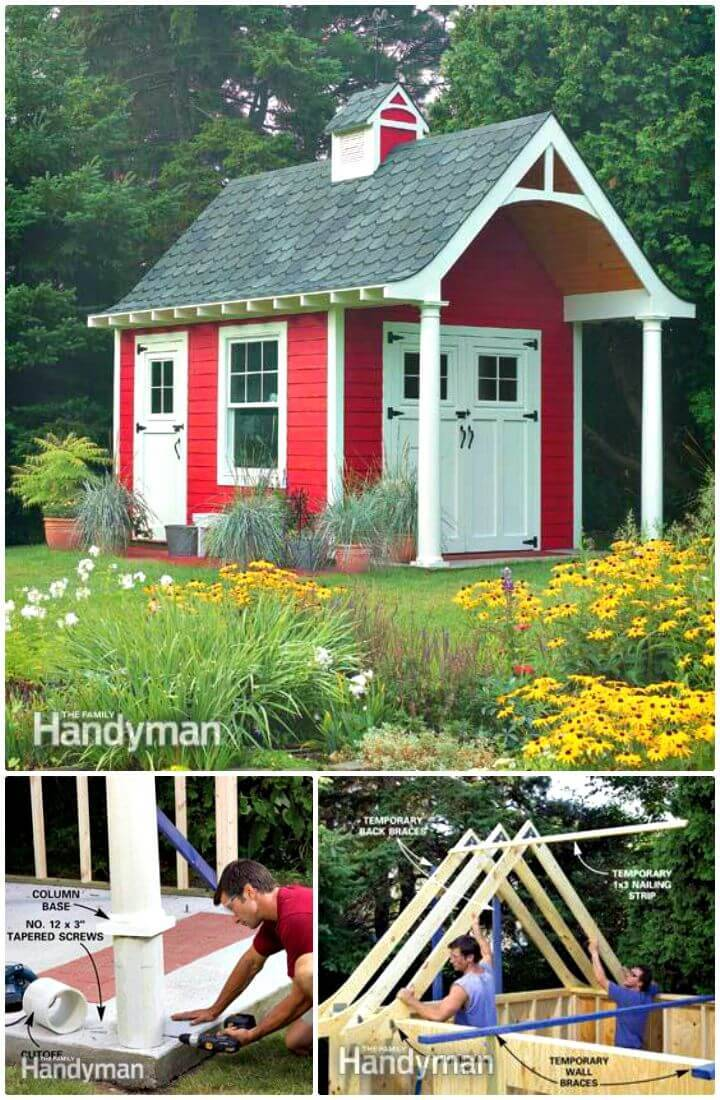 How To Make A Schoolhouse Storage Shed With This Free Plan