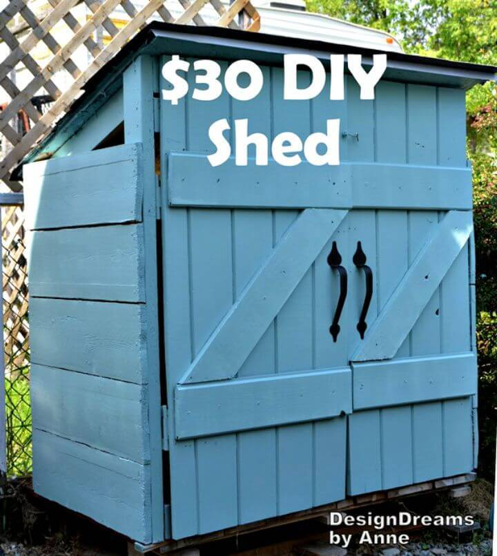 Build A Shed For $30-The Mini Shed Plan