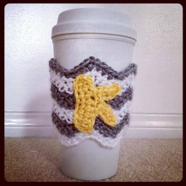 Easy Chevron Coffee Cozy - Free Crochet Pattern