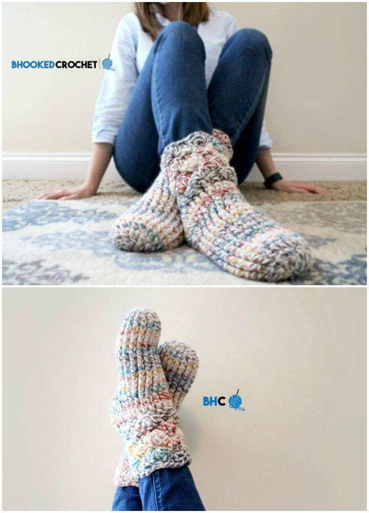 How To Cozy Free Crochet Slipper Socks Pattern