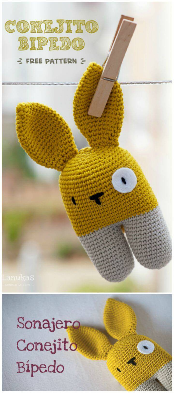 How To Crochet A Bípedo Bunny - Free Pattern