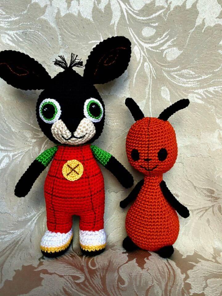 Easy Free Crochet A Bing Thing Amigurumi Pattern