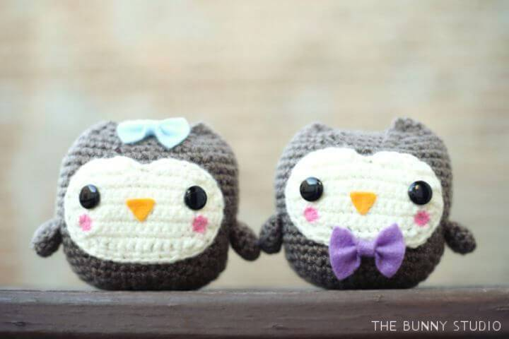 Free Crochet A Couple Of Owl Amigurumi As A Gift