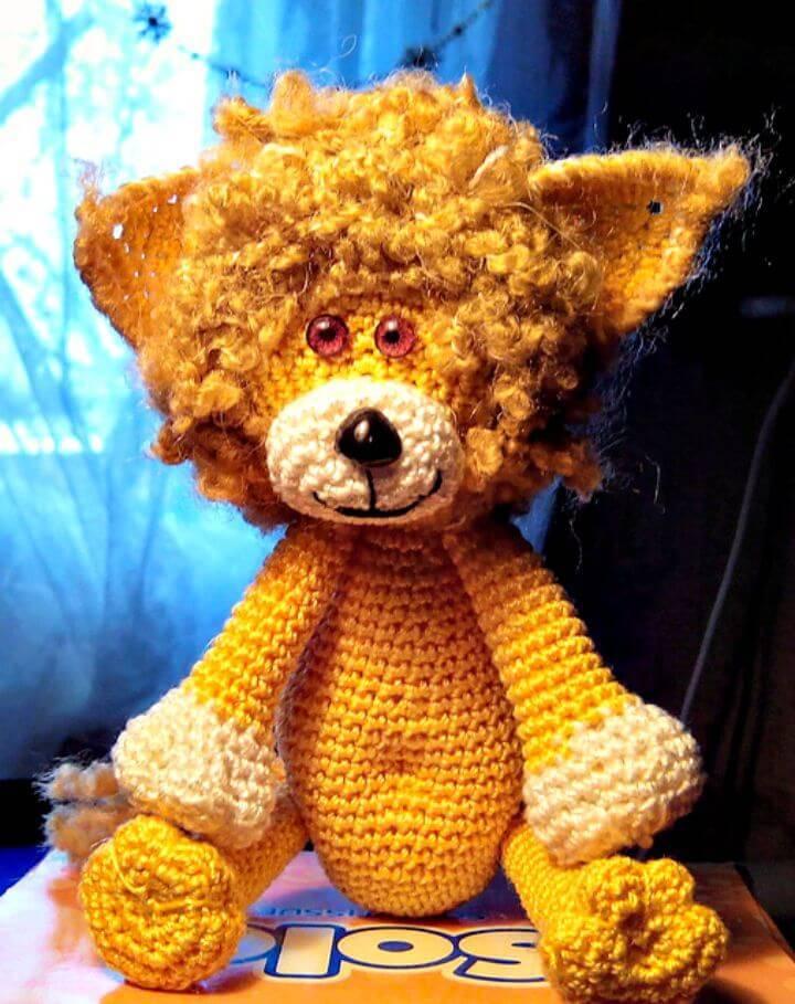 Easy Free Crochet A Lionet Amigurumi Pattern