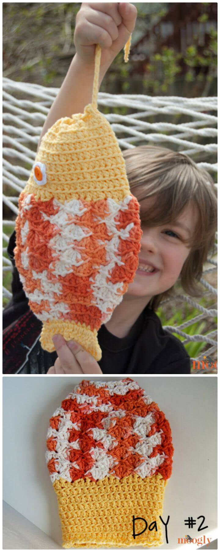 Free Crochet Mystery Fish Pouch Pattern