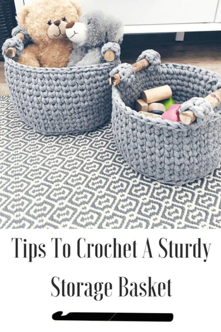 Free Crochet A Storage Basket Pattern