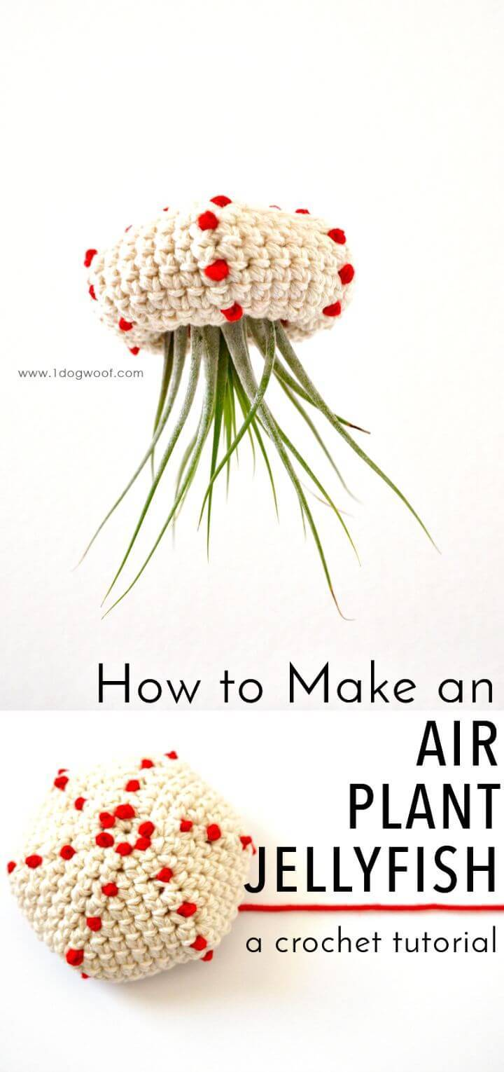 How To Crochet Air Plant Jellyfish Tutorial