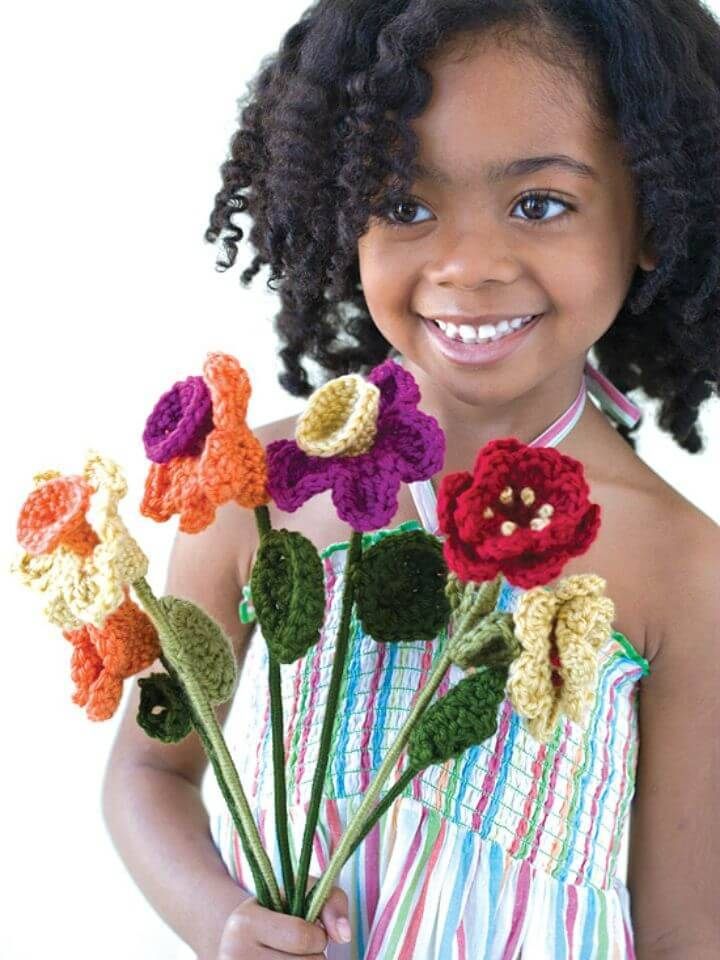Crochet Always Blooming Bouquet - Free Pattern