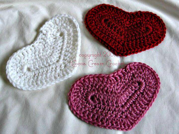 Easy Crochet American Folk-Art Style Heart Motif - Free Valentine Day Pattern