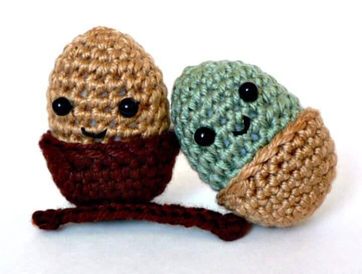 Crochet Amigurumi Acorn - Free Pattern