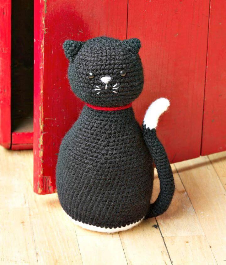 Crochet Awesome Cat Amigurumi - Black Cat Door Stopper