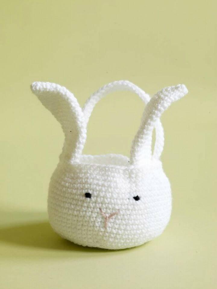 Free Crochet Amigurumi Bunny Basket Pattern