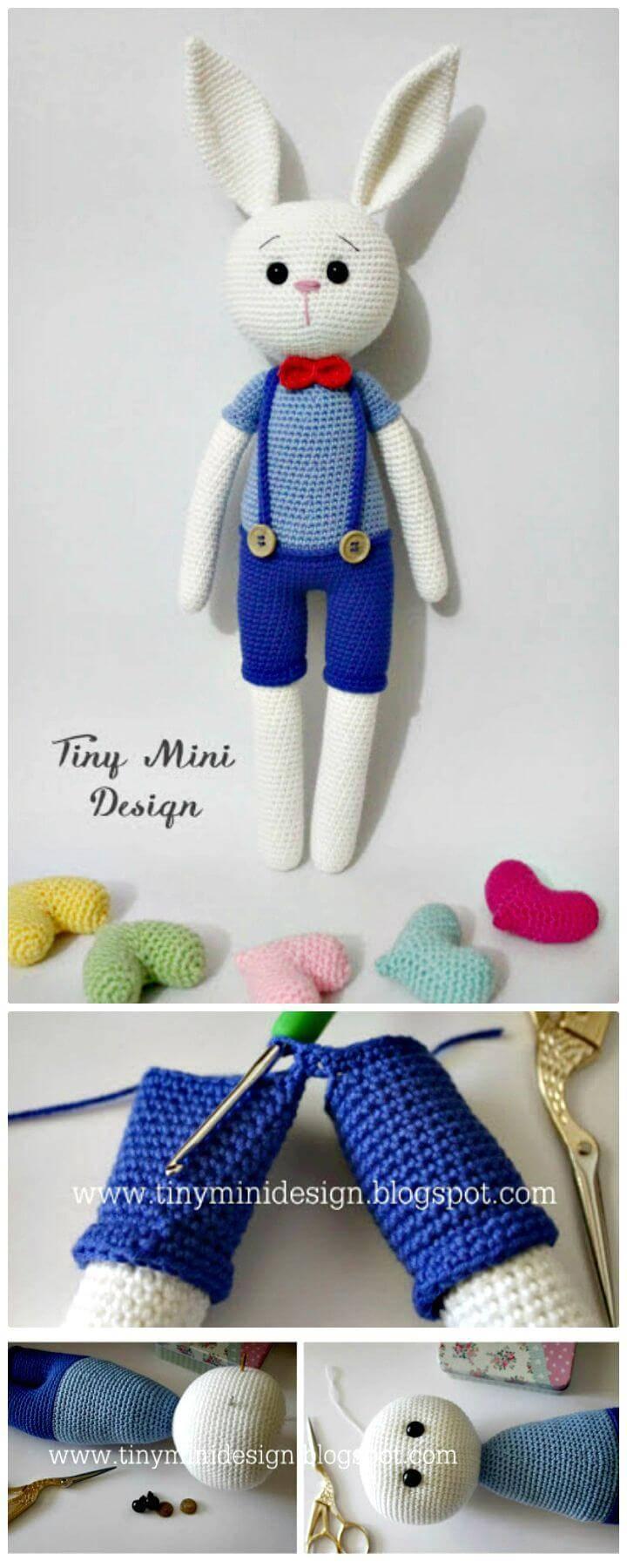 Free Crochet Amigurumi Cracker Bunny Pattern