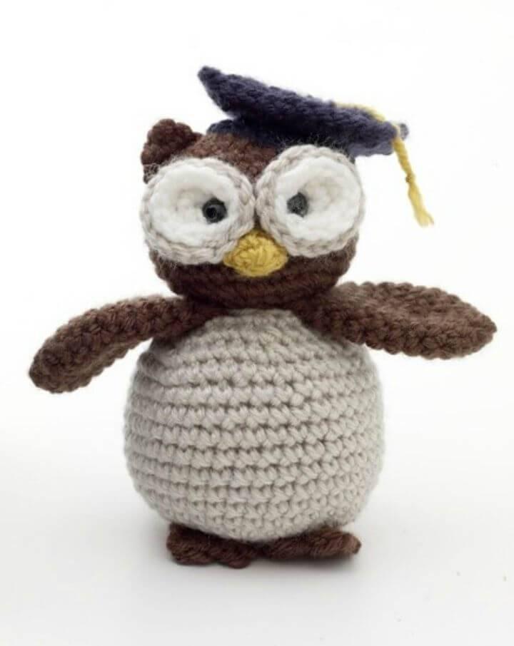 Easy Free Crochet Amigurumi Graduation Owl Pattern