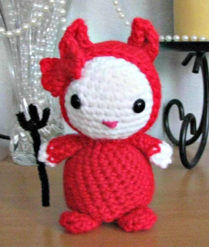 Free Crochet Amigurumi HK Devil Pattern