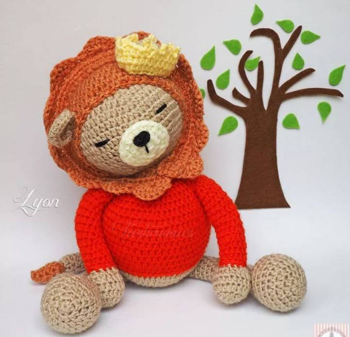 How To Crochet Amigurumi Learning Project Lion Lyon - Free Pattern