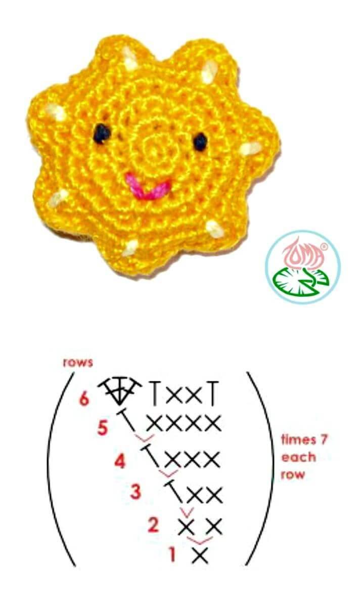 Free Crochet Amigurumi Sun Pattern