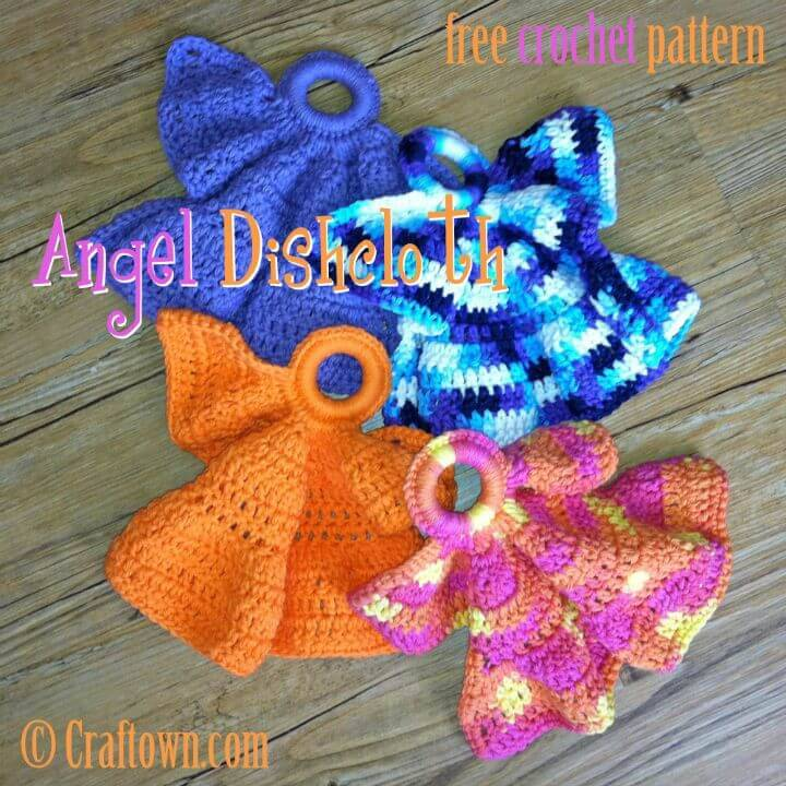 Easy Free Crochet Angel Dishcloth Pattern