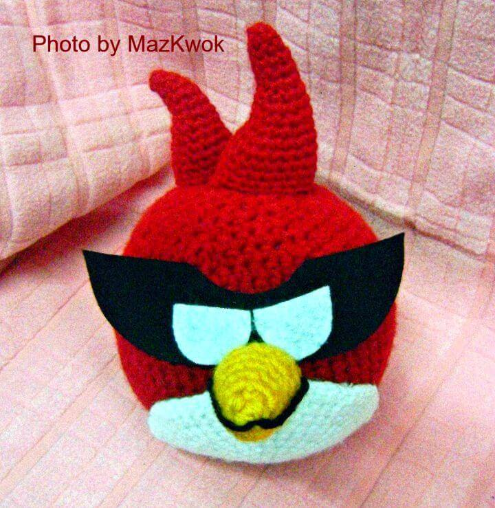 Free Crochet Angry Bird Space Version - Amigurumi Pattern