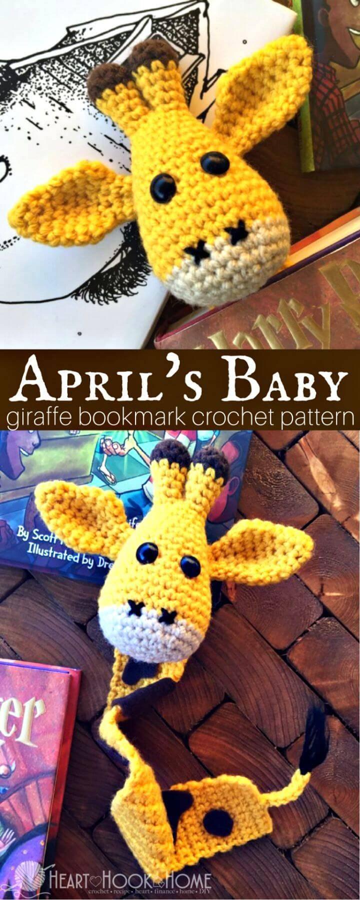 How To Crochet April's Baby Giraffe Bookmark Amigurumi Pattern