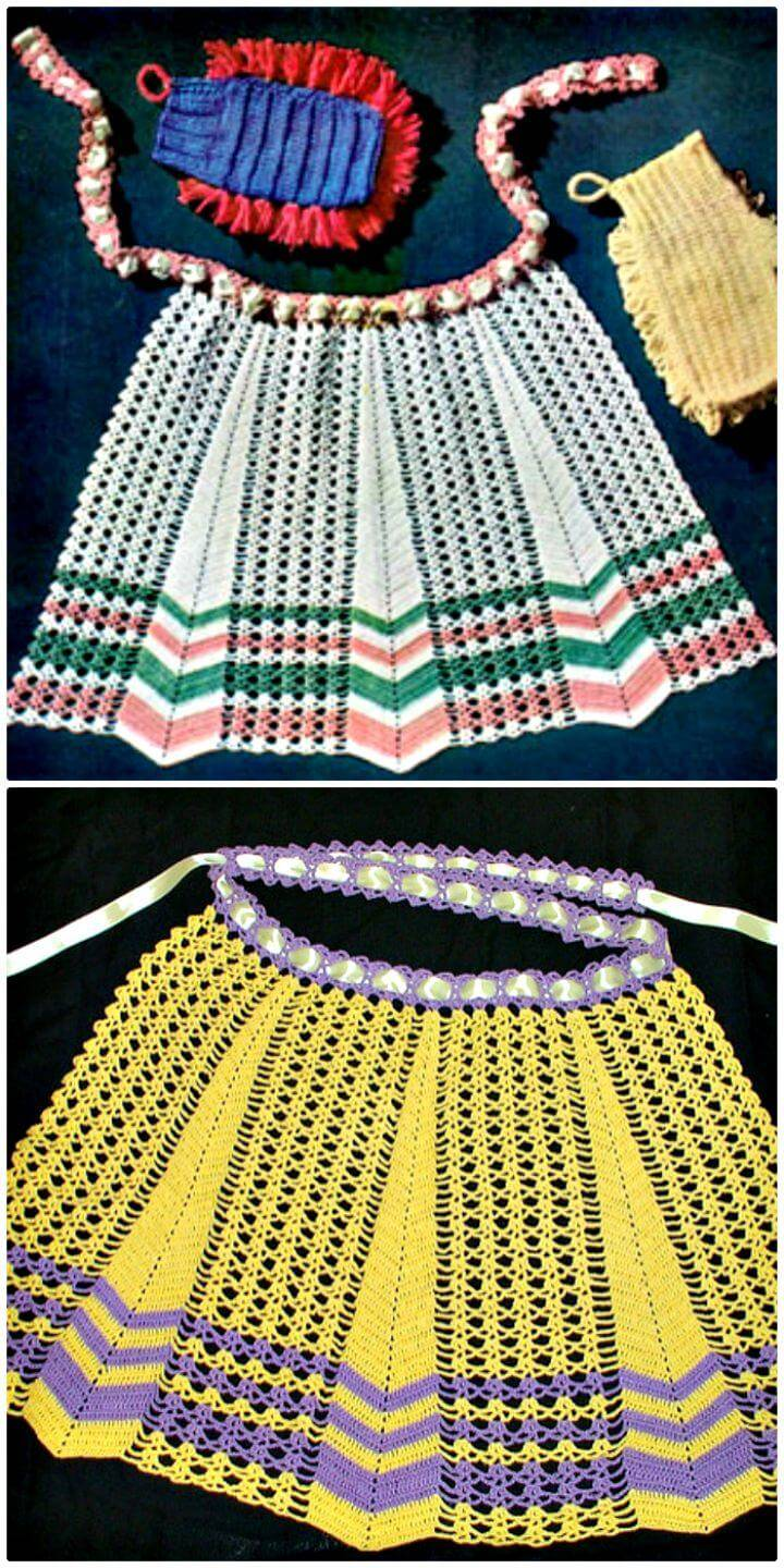 How To Free Crochet Apron Pattern