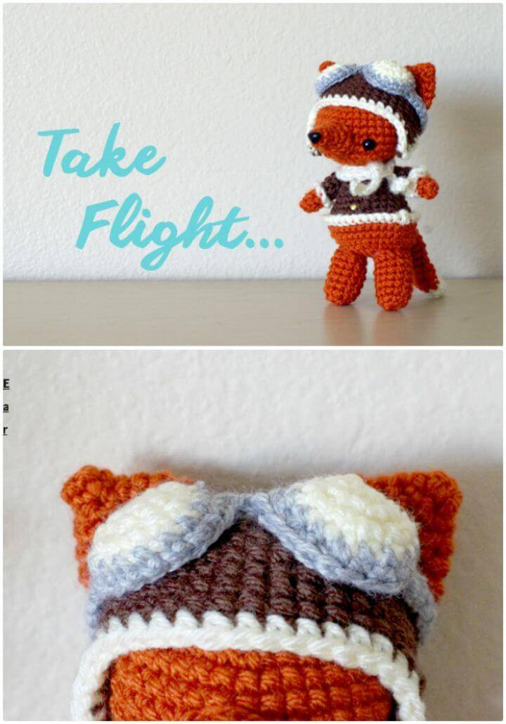 Free Crochet Aviator Fox Pattern