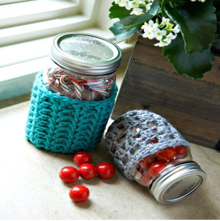 How To Crochet Awesome Jar Cozies - Free Pattern