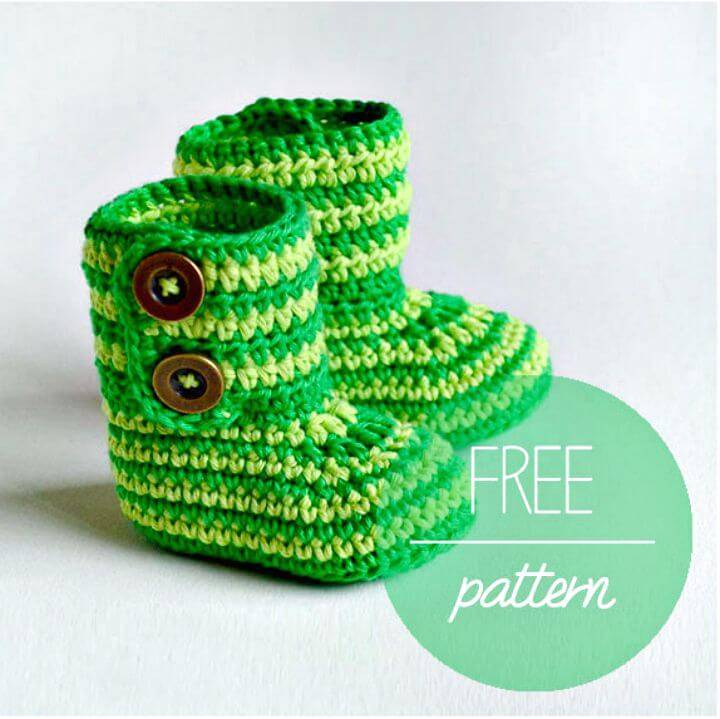 How to Crochet Baby Booties Green Zebra