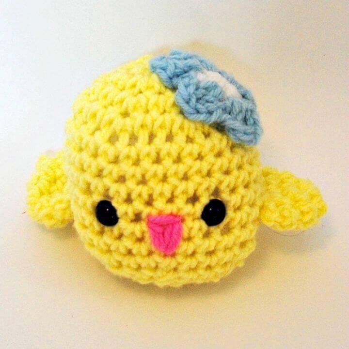 How To Crochet Baby Chick Amigurumi - Free Pattern