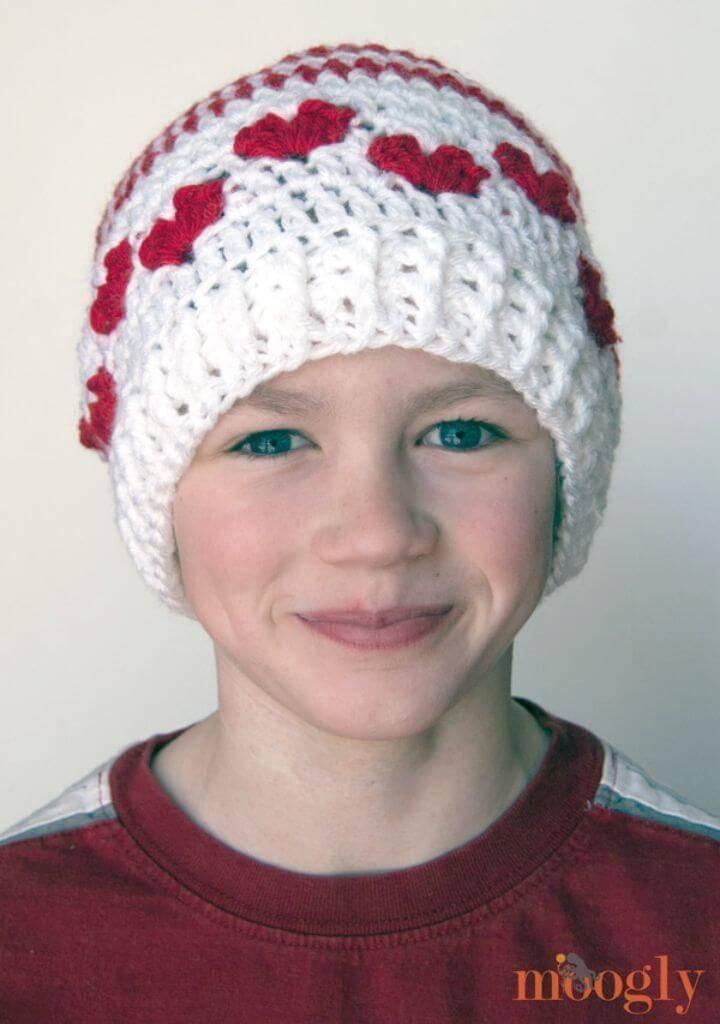 Free Crochet Valentine Baby Mine Hat Pattern