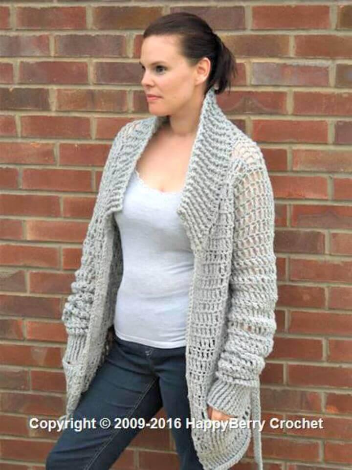 Free Crochet Baggy Cardi Cardigan