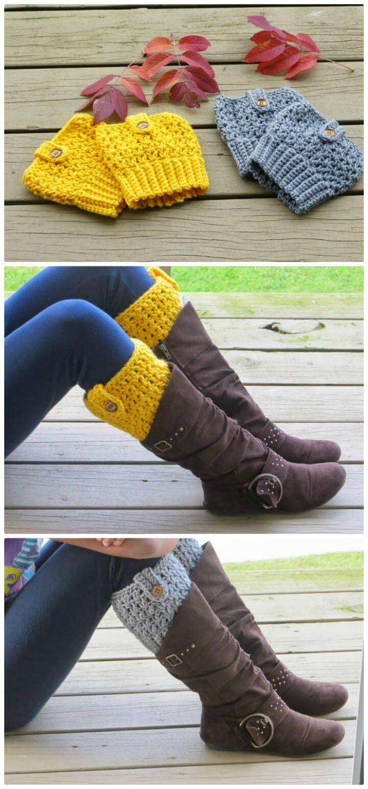 Easy Crochet Bailey Boot Cuffs - Free Pattern