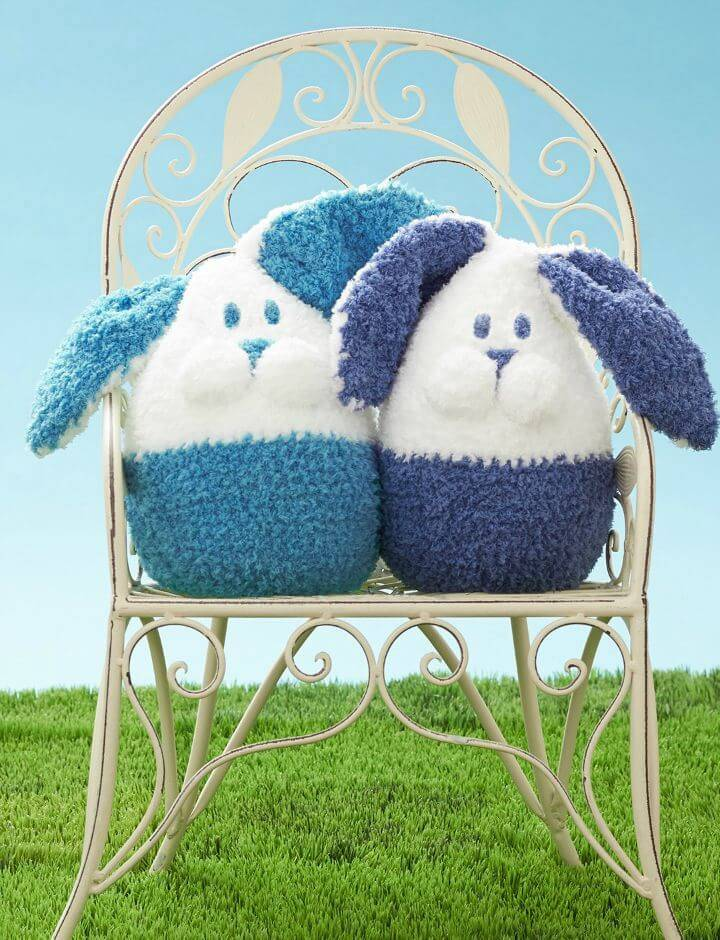 How To Crochet Bernat Bunny Buddy - Free Easy Baby Toy Pattern
