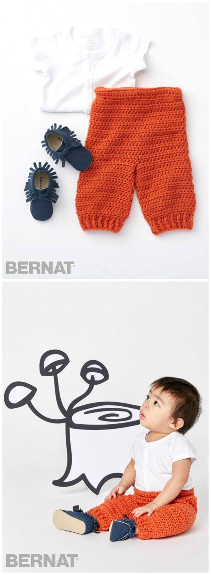 Easy Free Crochet Bernat Smarty Pants Pattern