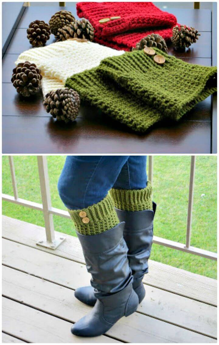Easy Free Crochet Boot Cuffs Pattern