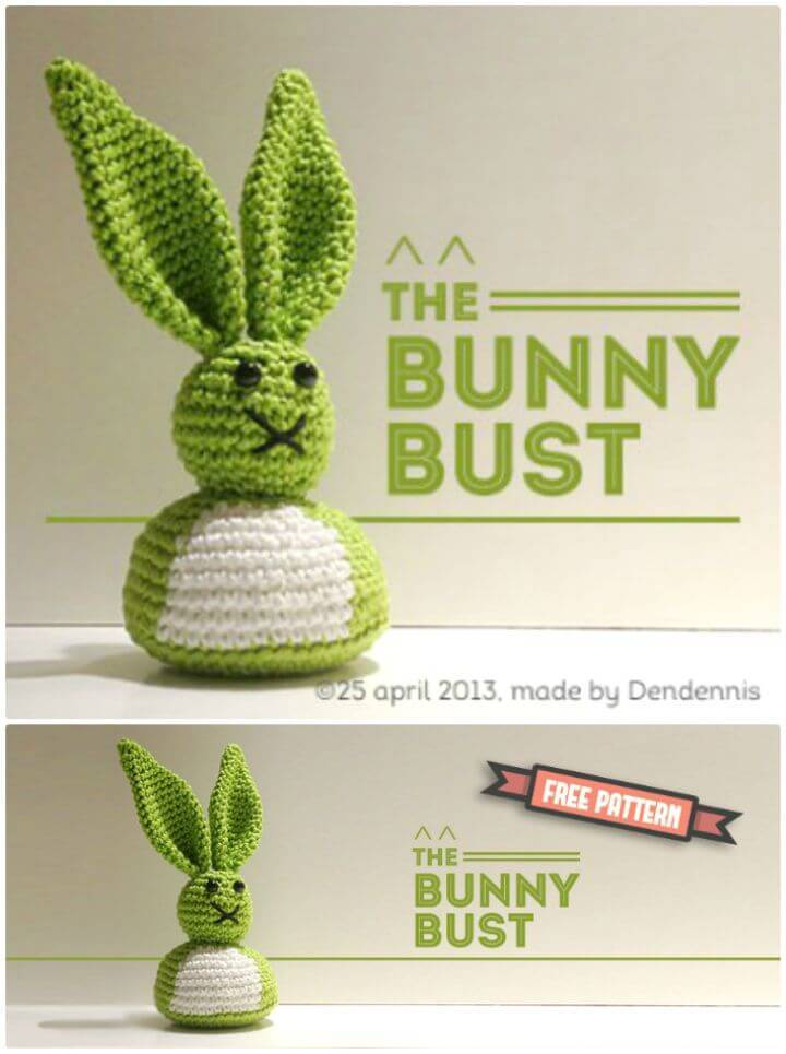 How To Crochet Bunny Bust Free Pattern