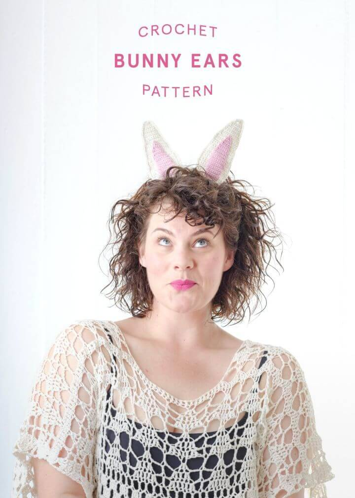 How To Crochet Bunny Ears Free Pattern For Easter